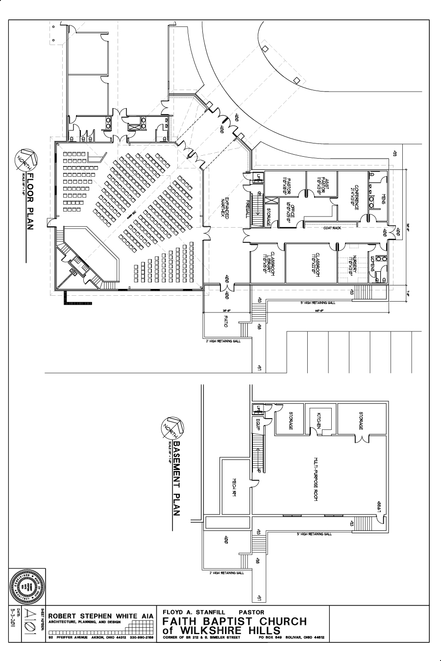 Free small church floor plans joy studio design gallery for Church designs and floor plans